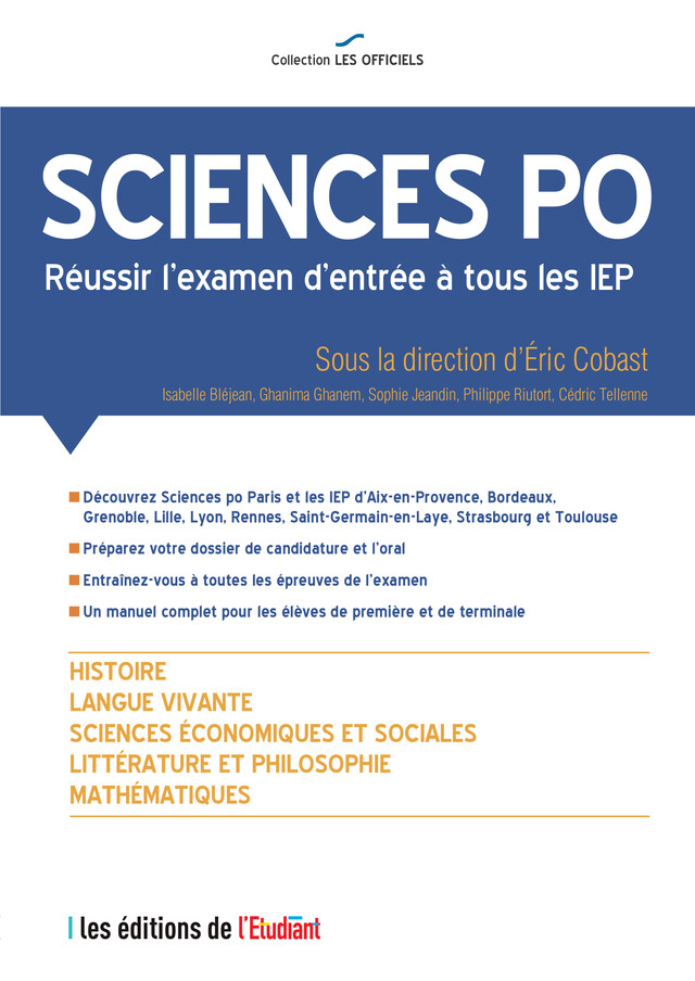 L'Officiel Sciences Po -  - L'Etudiant Éditions