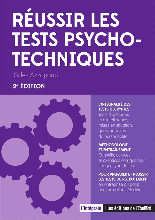 Réussir les tests psychotechniques - Gilles Azzorpardi - L'Etudiant Éditions
