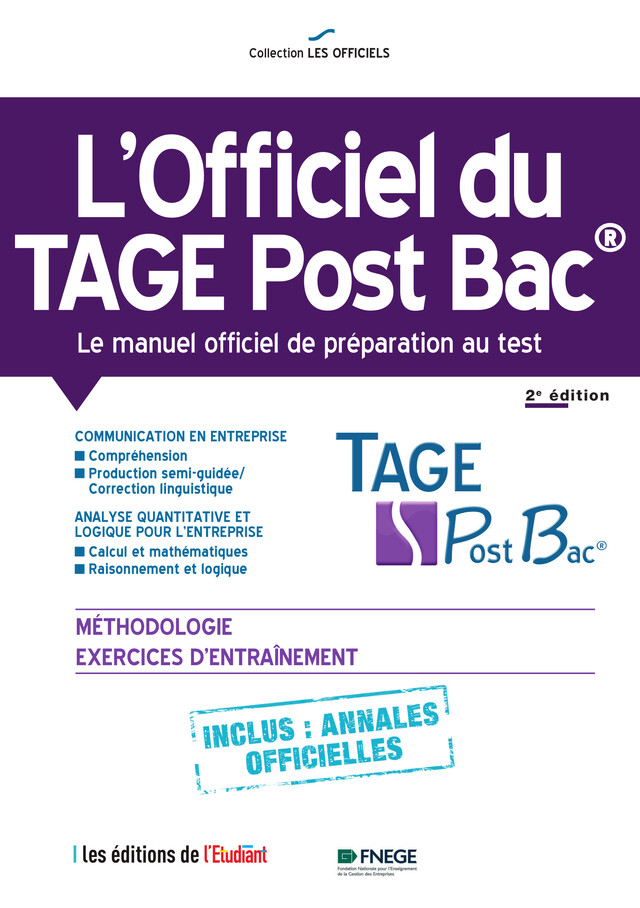 l'Officiel du TAGE Post Bac - Thomas Leblé, François Pannetier - L'ETUDIANT