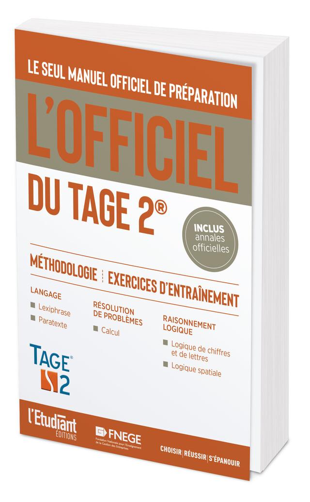 L'Officiel du TAGE 2® - Thomas Leblé, François Pannetier - L'Etudiant Éditions