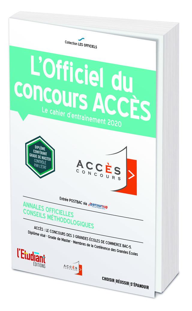 L'Officiel du concours ACCÈS -  Collectif - L'Etudiant Éditions