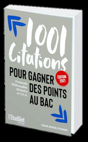 1 001 CITATIONS POUR GAGNER DES POINTS AU BAC -  - L'Etudiant Éditions